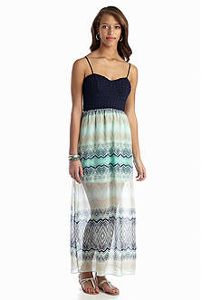 Trixxi Printed Bow Back Maxi Dress