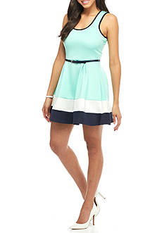 Trixxi Color Block Scuba Dress