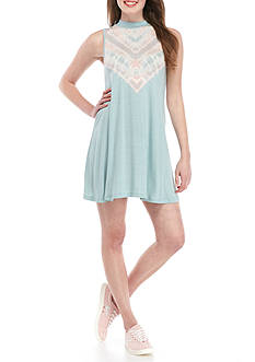 Living Doll Sleeveless Mock Neck Dress