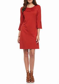Sharagano Bell-Sleeve Shift Dress