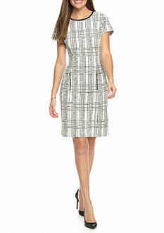 Sharagano Tweed Sheath Dress