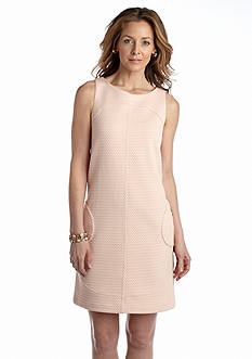 Sharagano Quilted Shift Dress