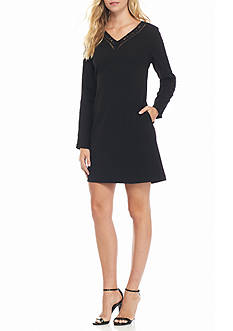 julia jordan Lace Trim Shift Dress
