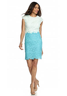 Julia Jordan® Lace Colorblock Sheath Dress