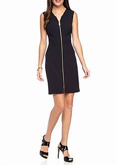 Julia Jordan Front Zip Sheath Dress