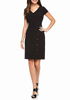 Julia Jordan Snap Skirt Sheath Dress