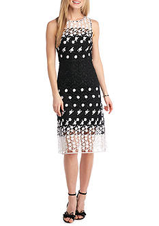 Julia Jordan Lace Fit and Flare Dress