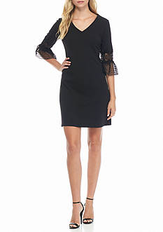 julia jordan Bell-Sleeve Shift Dress