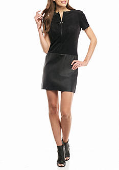 julia jordan Zip Front Drop-waist Dress