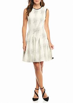 Julia Jordan Textured Knit Fit and Flare Dress