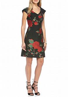 Julia Jordan Floral Printed Sheath Dress