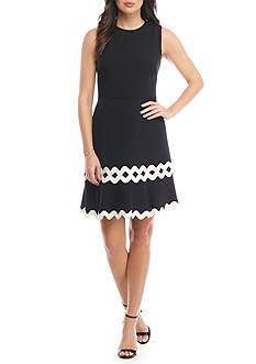 Julia Jordan Sleeveless Embellished Bottom Sheath Dress