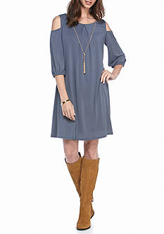 Luxology™ Knit Cold Shoulder Dress