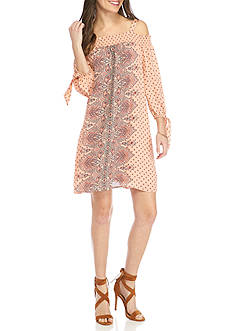Luxology™ Off-The-Shoulder Smock Top Dress