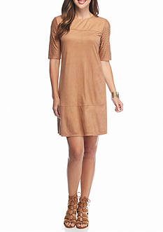 Madison Leigh Faux Suede Shift Dress