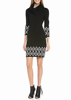 Madison Leigh Cowl-Neck Sweater Dress