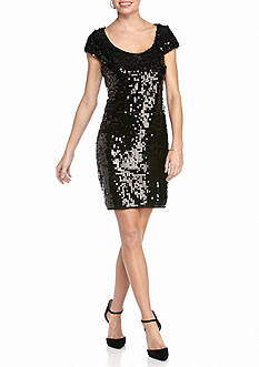 Madison Leigh Sequin Sheath Dress