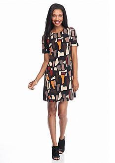 Madison Leigh Printed Shift Dress