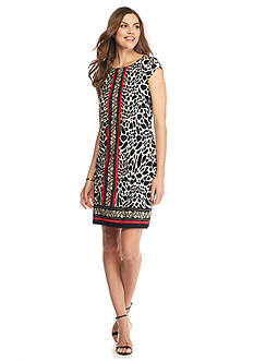 Madison Leigh Animal Print Shift Dress