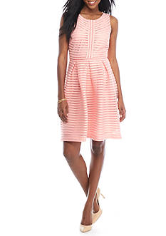 Madison Leigh Ribbed Fit and Flare Dress