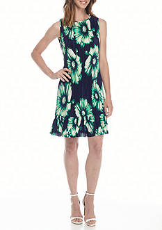 Madison Leigh Floral Printed Ruffle Hem Dress