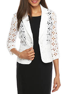 Madison Leigh Eyelet Topper Jacket