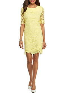 Madison Leigh Floral Lace Sheath Dress