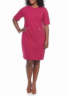 Madison Leigh Plus Size Short-Sleeve Shift Dress