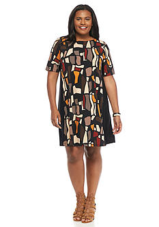 Madison Leigh Plus Size Printed Shift Dress