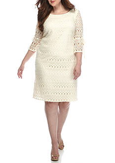 Madison Leigh Plus Size Crochet Lace Dress
