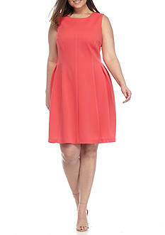 Madison Leigh Plus-Size Textured Fit and Flare Dress