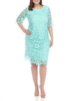 Madison Leigh Plus Size Lace Sheath Dress
