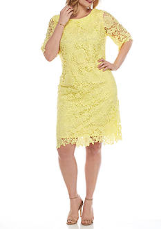 Madison Leigh Plus Size Lace Sheath Dress