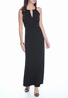 Soho Keyhole Neckline Maxi Dress