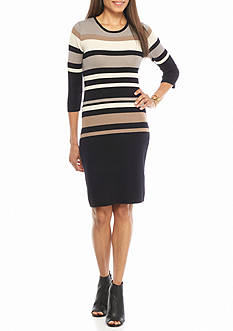 Sami & Jo Striped Sweater Dress