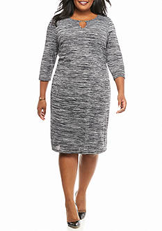 Sami & Jo Plus Size Striped Shift Dress