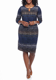 Sami & Jo Plus Size Printed Shift Dress