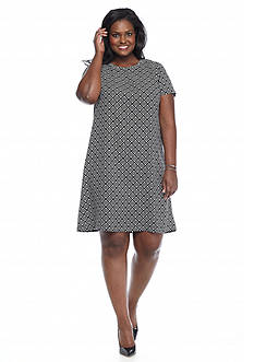 Sami & Jo Plus Size Printed Shift Dress