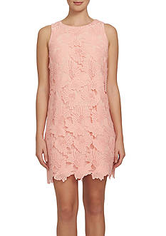 CeCe Sleeveless Floral Lace Shift Dress