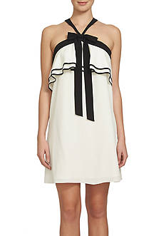 CeCe Tiered Popover Halter Dress