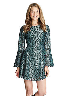 CeCe by Cynthia Steffe Bell Sleeve Lace Dress