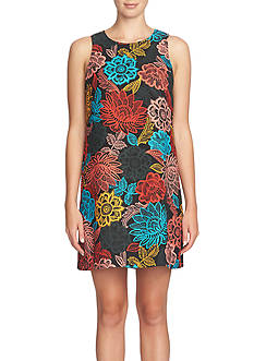 CeCe by Cynthia Steffe Floral Printed Shift Dress