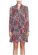 CeCe by Cynthia Steffe Tie-Neck Floral Shift Dress