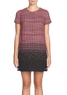 CeCe Tweed Ombre Shift Dress