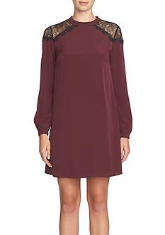 CeCe Lace Shoulder Shift Dress