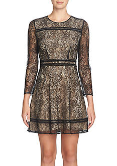 CeCe Lace Fit and Flare Dress