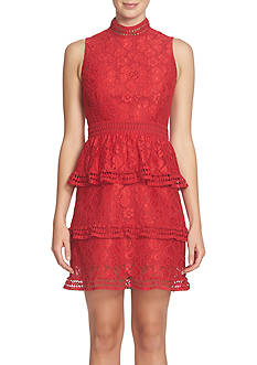 CeCe by Cynthia Steffe Tiered Lace Dress