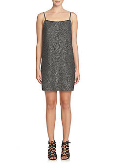 CeCe Sparkle Foiled Knit Slip Dress