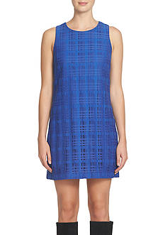 CeCe by Cynthia Steffe Tartan Lace Shift Dress