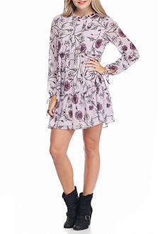 Jolt High Neck Floral Tiered Dress